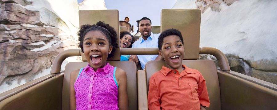 Young guests on Expedition Everest in Disney's Animal Kingdom Theme Park