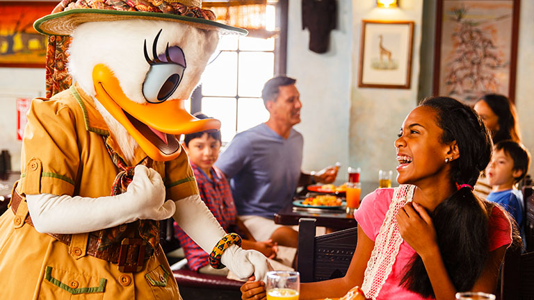 Teen dining at Tusker House in Animal Kingdom
