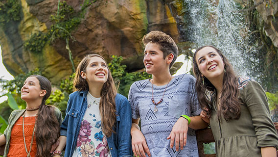 Teens in Pandora World of Avatar at Animal Kingdom Park