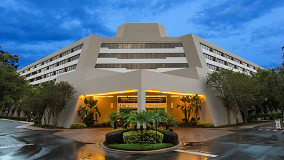 The exterior of DoubleTree Suites by Hilton Orlando