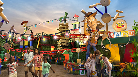Families enjoying Toy Story Land in Disney's Hollywood Studios