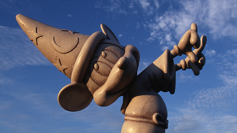 Mickey the Sorcerer statue at Fantasia Gardens and Fairways Miniature Golf